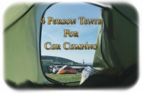 Best 4 Person Tents For Car Camping  Sleeping With Air