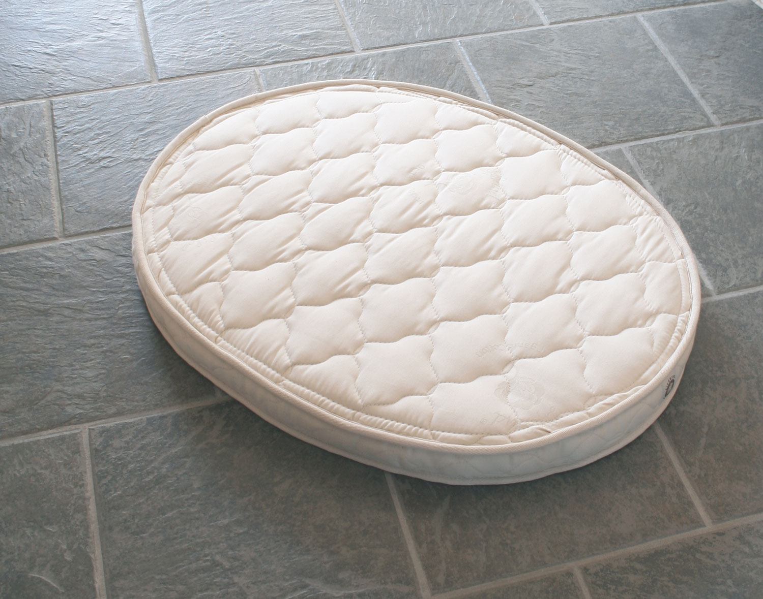 Rubber Mattress Oval Certified Organic Natural Rubber Crib Mattress