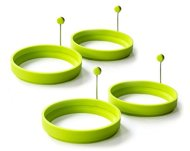 Magic Cuisine 4-Pack Silicone Egg Ring – Egg Mold – Silicone Pancake Mold