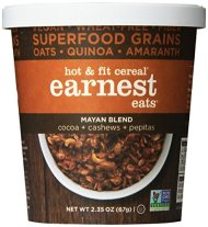 Earnest Eats Vegan & Wheat-Free Hot Cereal with Superfood Grains, Quinoa, Oats and Amaranth – Mayan  Blend – (Case of 12 – Single Serve Cups)