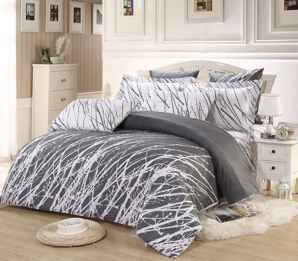 Black White And Grey Duvet Covers 9 Best Grey And White Duvet Cover Sets That Wont Break