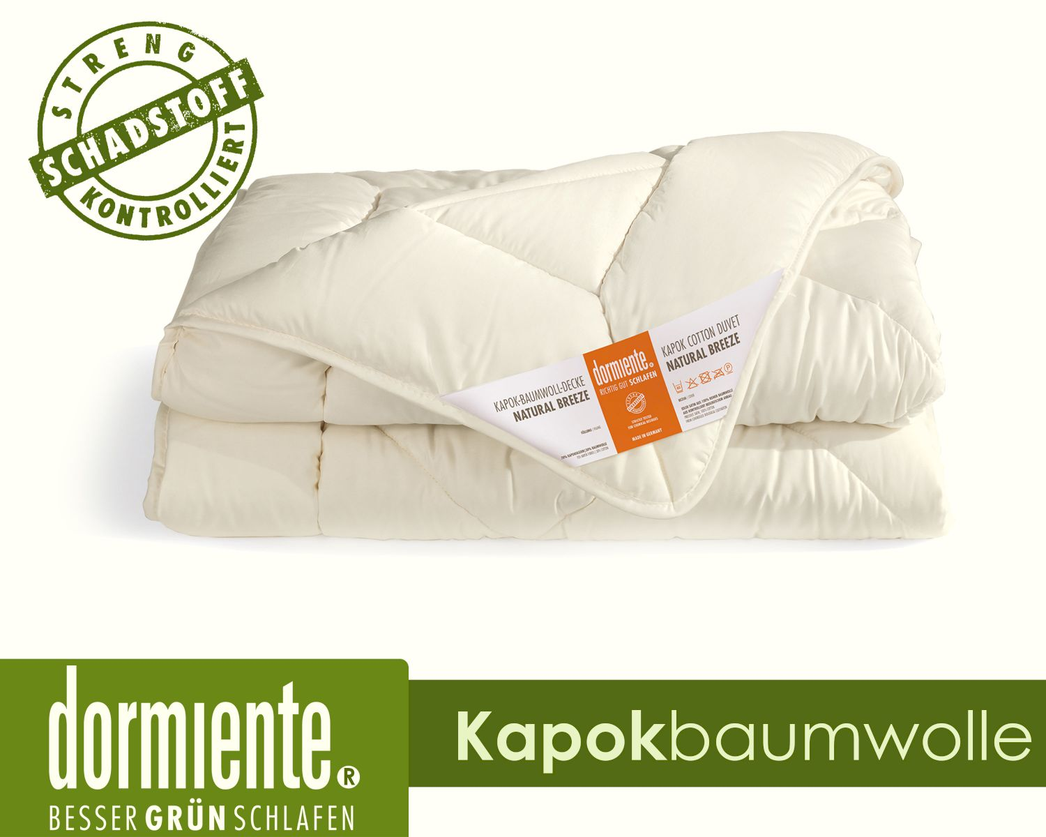 Kapok Bettdecken Dormiente Natural Breeze Kapokbaumwolle Natur Bettdecke