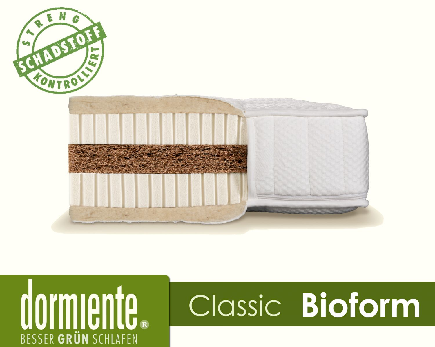 Latex Matratze Dormiente Natural Classic Bioform Latex Matratzen