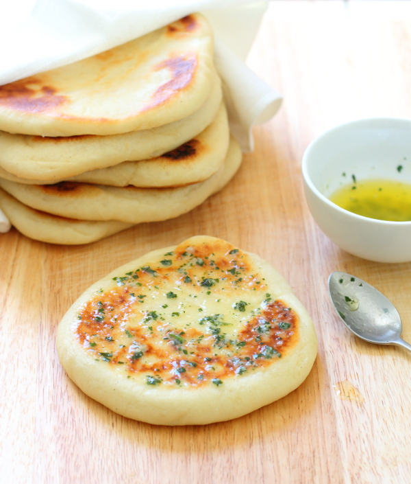 Garlic  Coriander Flatbreads - Slice of Kitchen Life