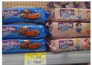 Pull-ups Flushable Moist Wipes