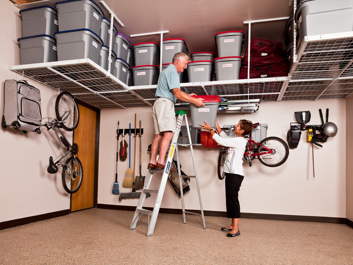 Garage Storage Boxes Overhead Garage Storage Ceiling Mounted Racks