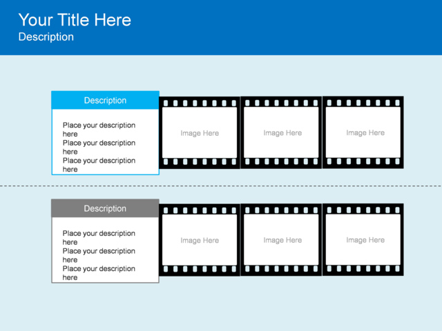 PowerPoint Slide - Film Strip Diagram - 2 Strips - 3012-1