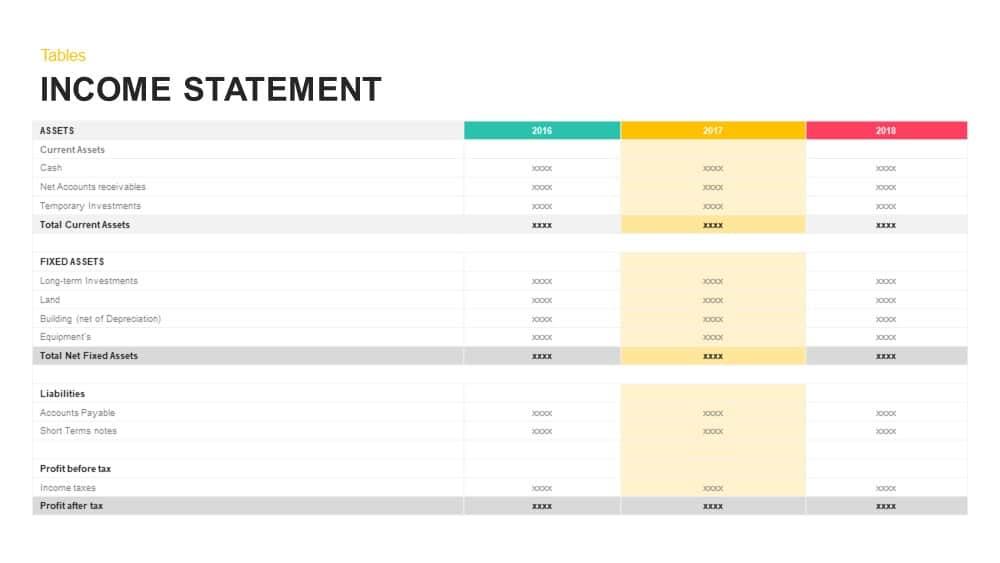 Financial Report PowerPoint Template  Keynote - Slidebazaar