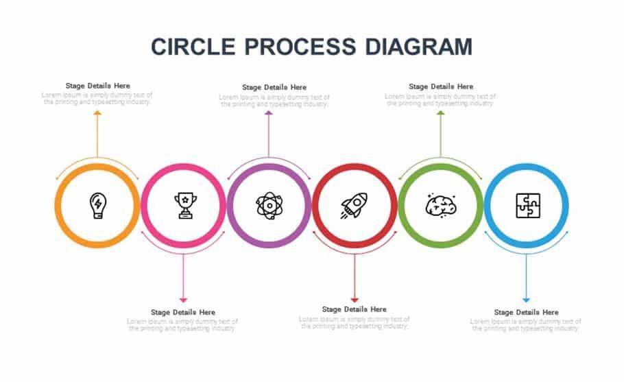 free Circular process diagram PowerPoint template