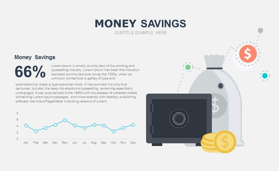 Free Money Saving Template for PowerPoint presentation