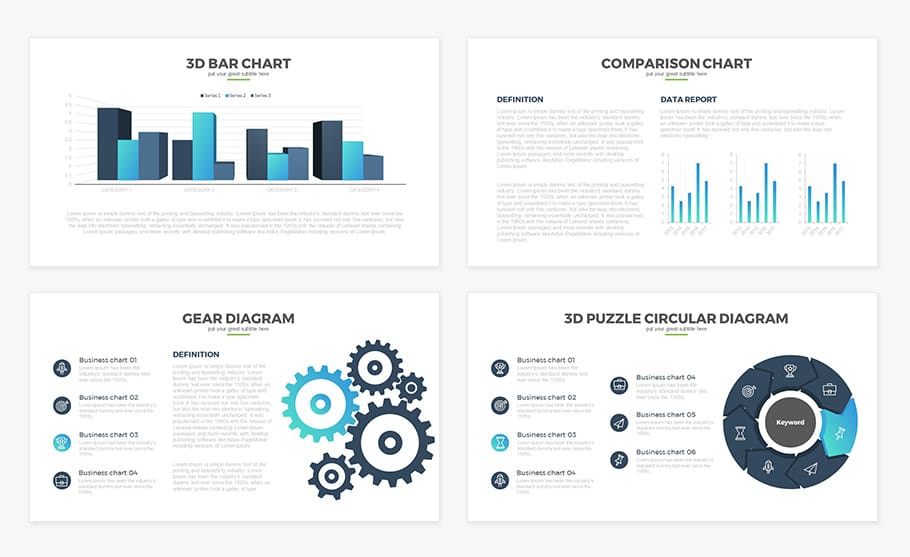Free Report Multipurpose PowerPoint Template - Slidecompass