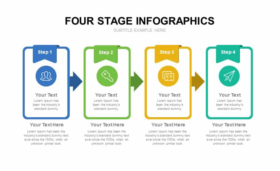 Four Stage Infographic Template For PowerPoint presentation