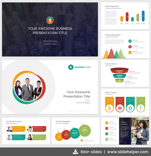 Classy Business Presentation Template with Clean  Elegant PPT Slide