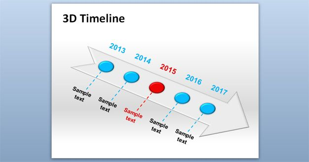 3d timeline powerpoint template - sample powerpoint timeline