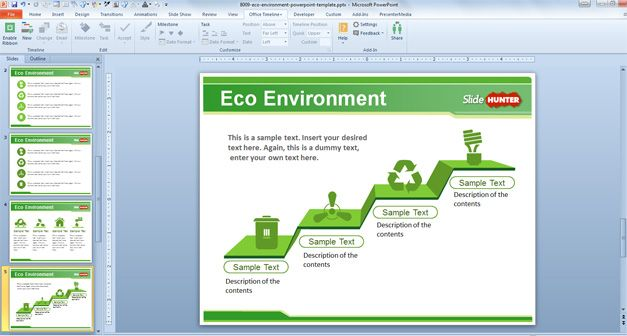 Clipart Images House Free Eco Environment Powerpoint Template