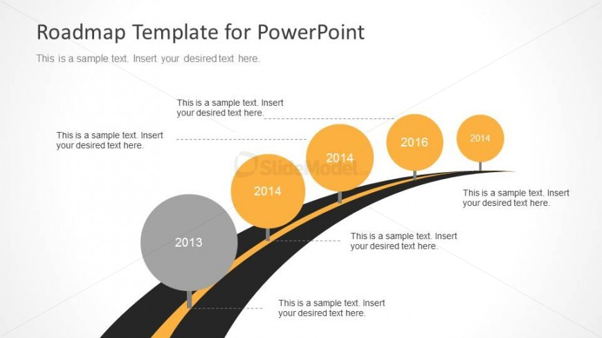 road map powerpoint template - roadmap powerpoint template