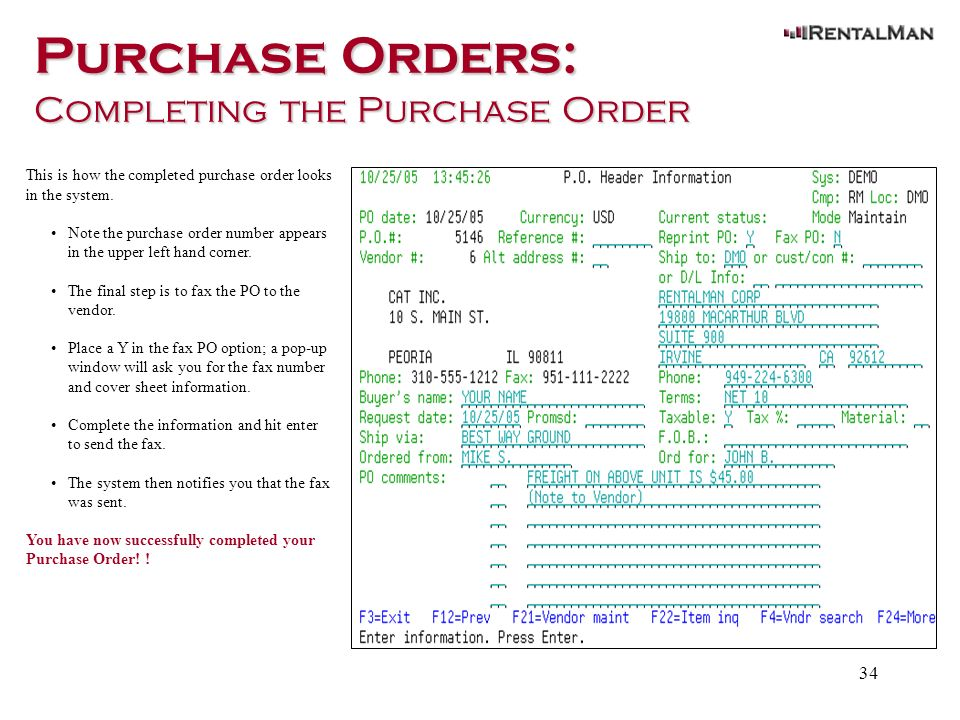 Purchase Orders Notes - ppt download
