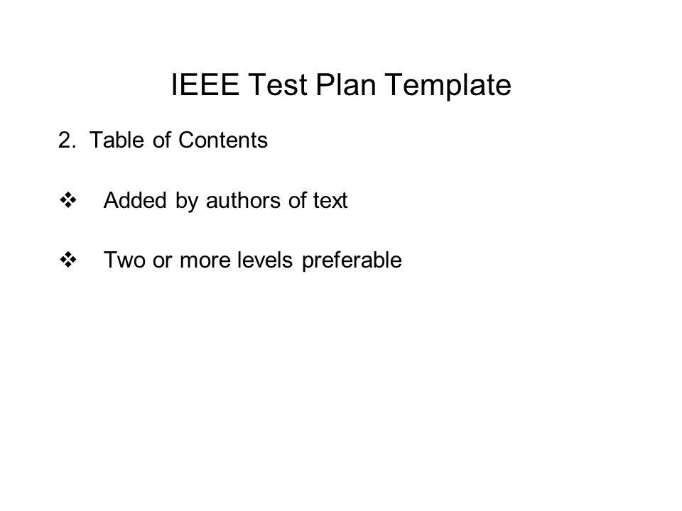 Ieee Project Plan Template - Costumepartyrun