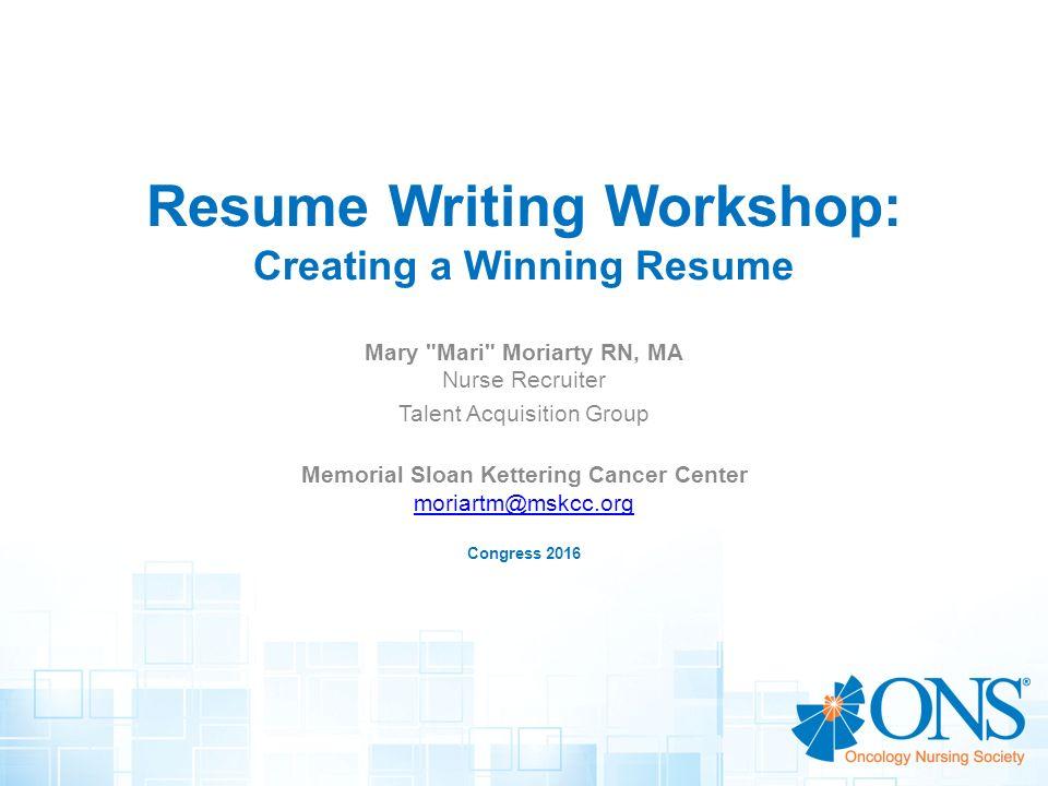 Resume Writing Workshop Creating a Winning Resume - ppt video - creating resume