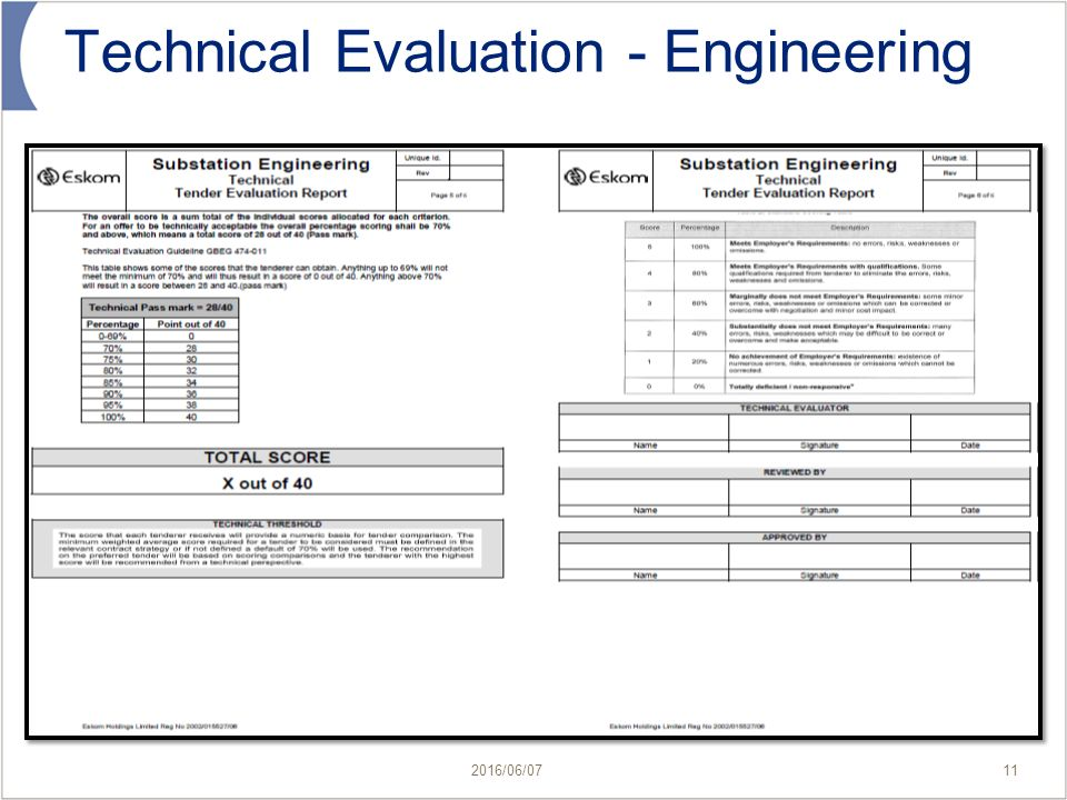 Technical Assessment Template Tender Evaluation Template Apigramcom