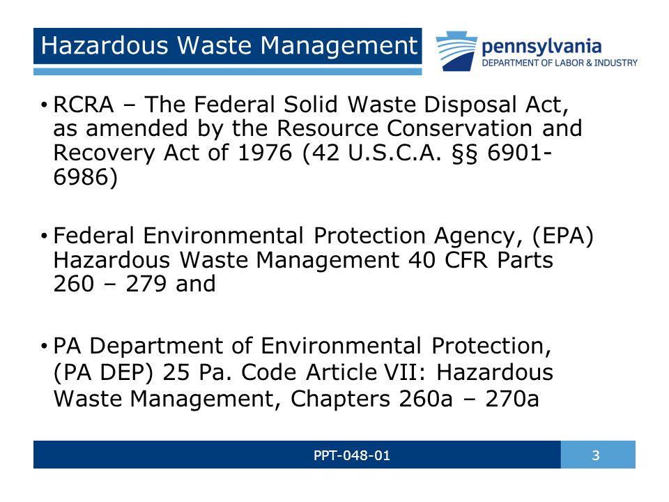 Hazardous Waste Management - ppt download - waste management ppt