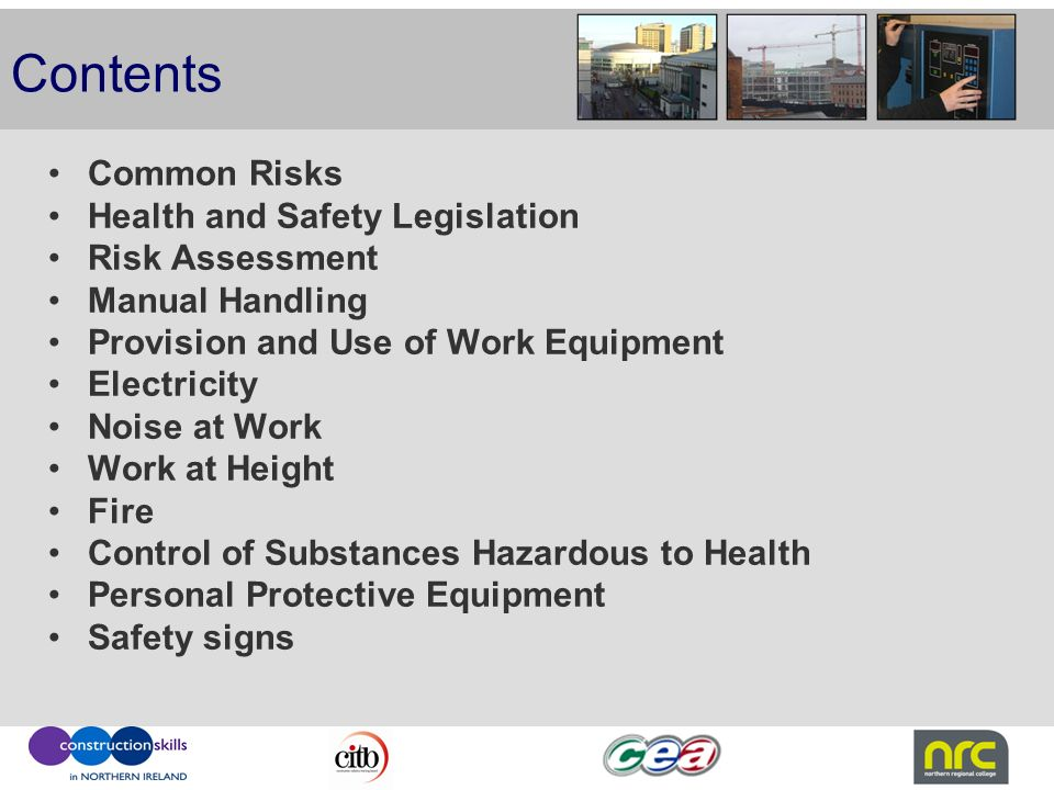 Health  Safety in the Construction Industry - ppt video online download