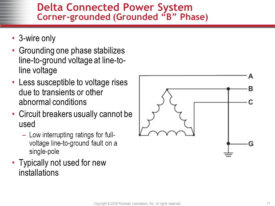 grounded delta wiring diagram b