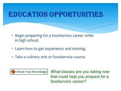 Foodservice Career Options - ppt video online download