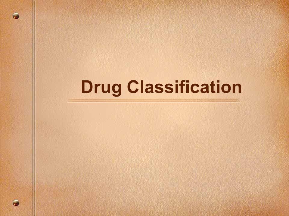 Drug Classification - ppt video online download - drug classification chart
