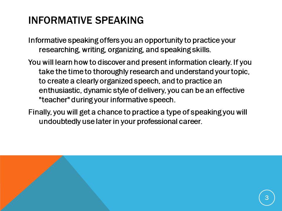 The Informative Speech - ppt video online download