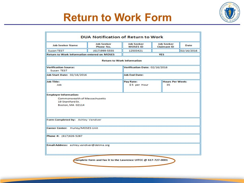 Return To Work Form Return To Work Work Release Forms Printable - return to work medical form