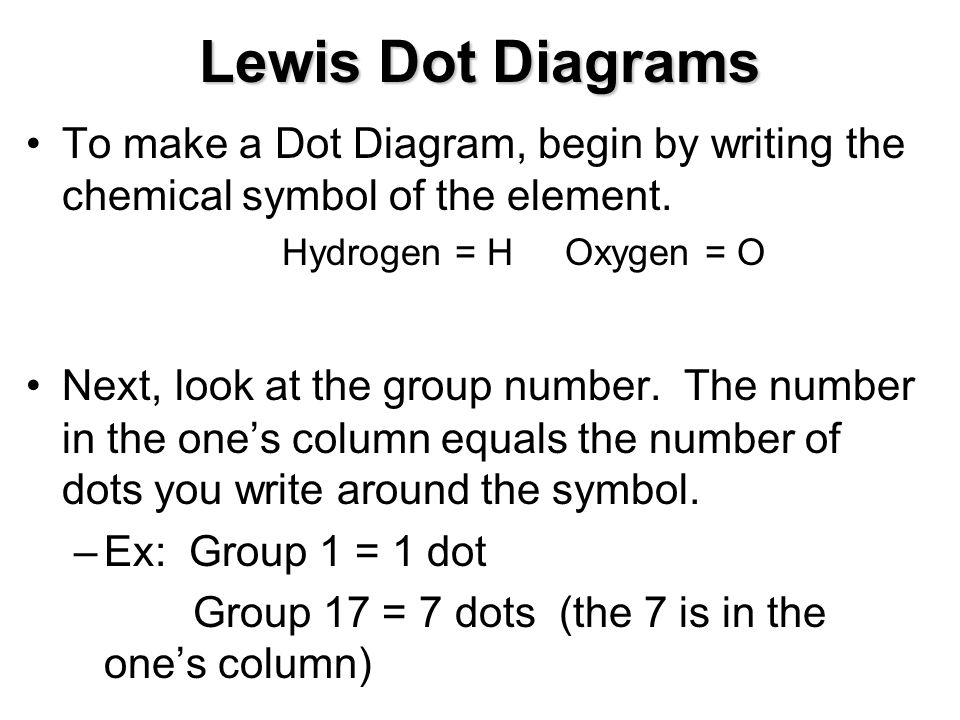 oxygen lewis dot diagram