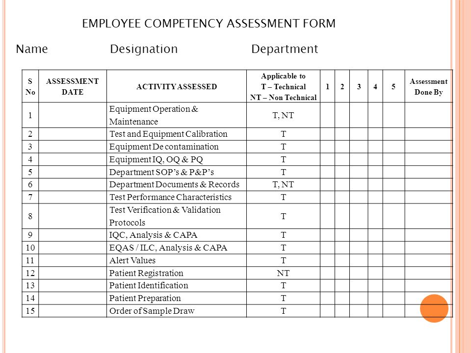 Competency Assessment Template Interview Assessment Form For - interview assessment forms