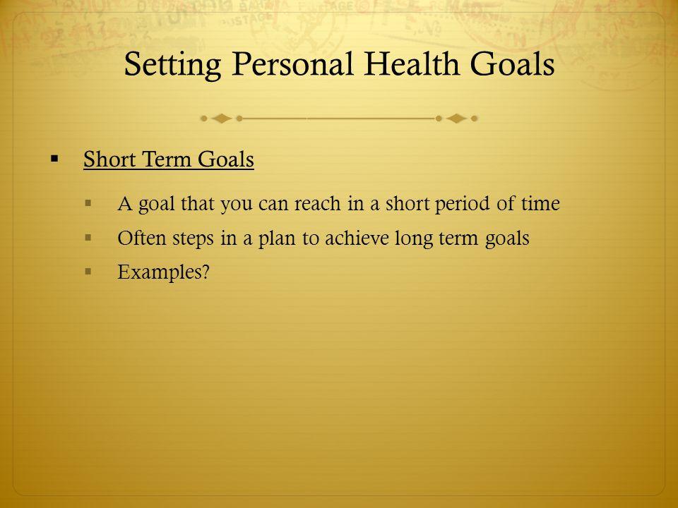 examples of short term goals - Helomdigitalsite
