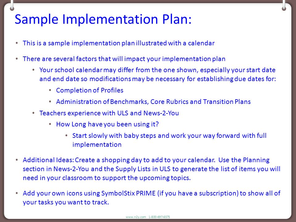 N2y Sample Implementation Plan - Ppt DownloadSample Transition - implementation plan template