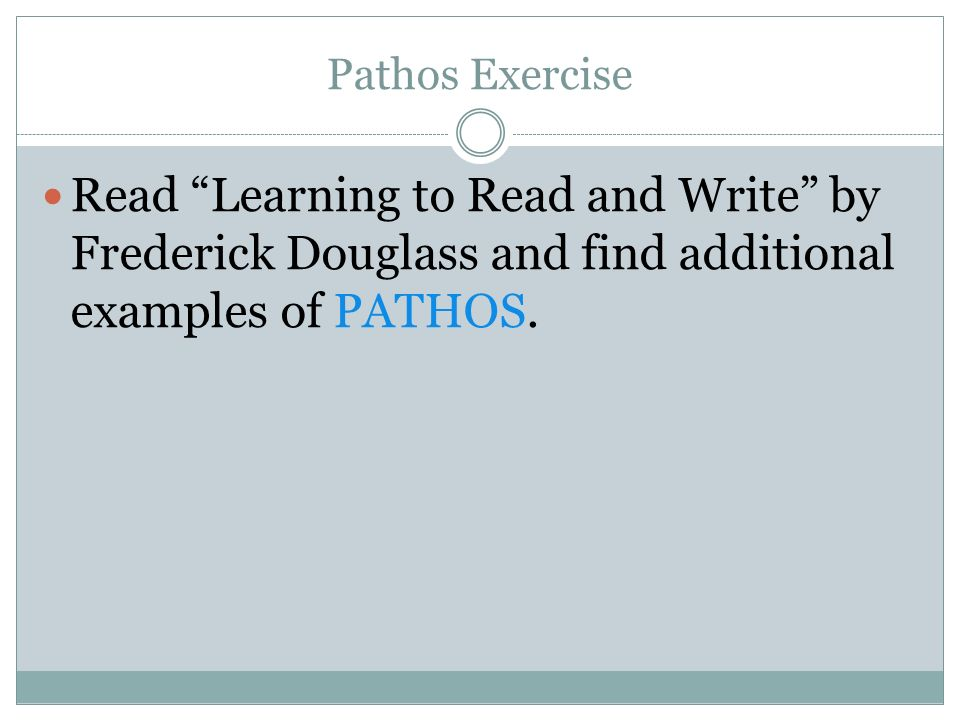 Frederick douglass essay learning to read and write