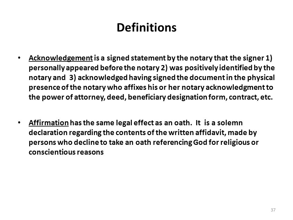 10 USC §1044a NOTARY TRAINING Developed by Legal Assistance - notary statement