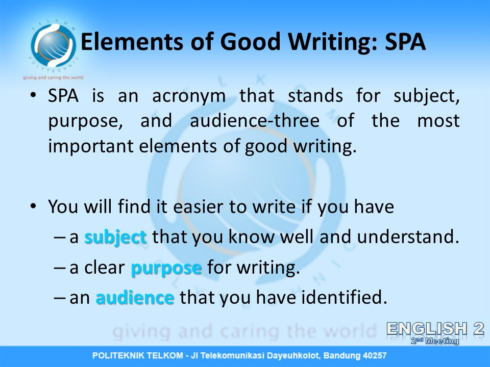 Elements Of Composition Essay