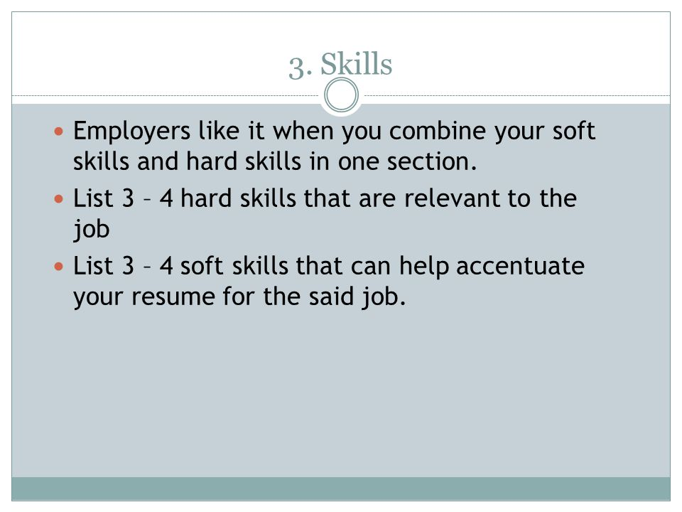 List of hard skills for resume