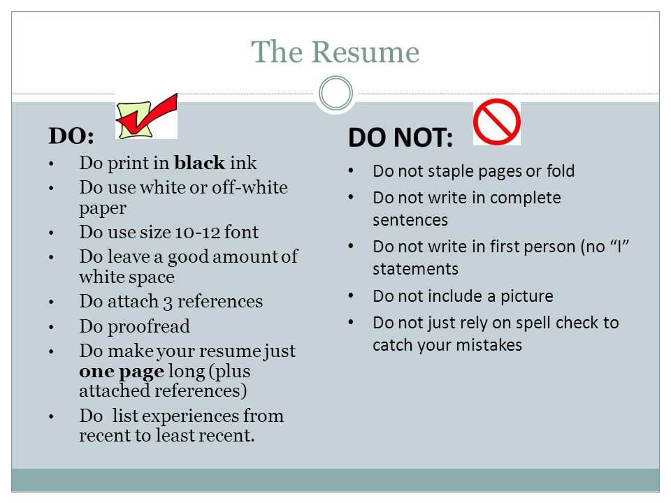Not To Include In Resume Information To Include In A Resume What