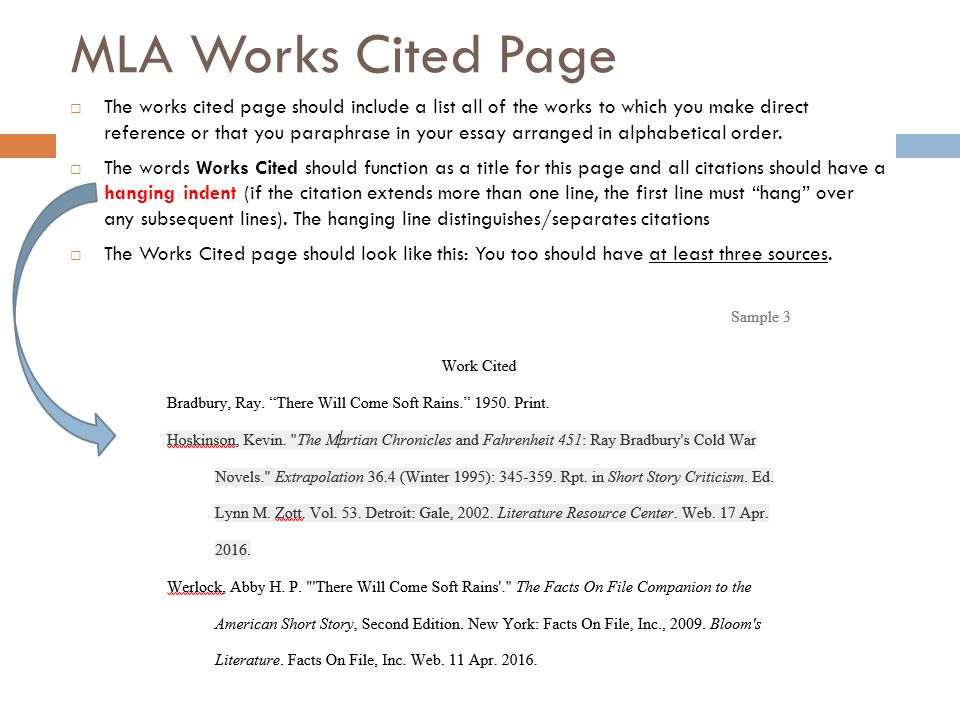 mla works cited essay proper mla works cited page education language - Mla Work Cited Book