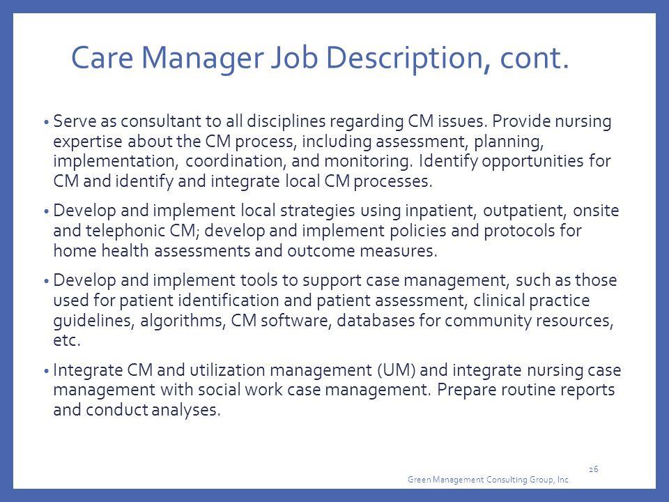 Case Management Job Description Staruptalentcom