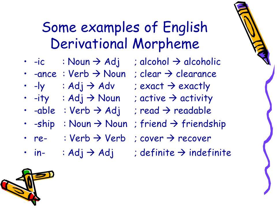 Derivational morphemes - ppt video online download