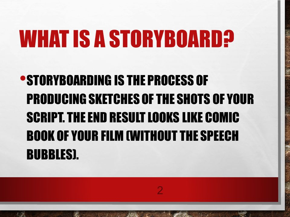 STORYBOARDS Trade \ Industrial Education - ppt download - what is storyboard