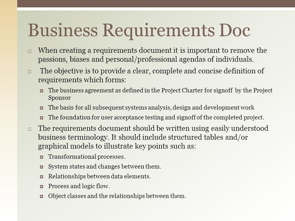 Business Requirement Document requirement document simple - sample requirement analysis