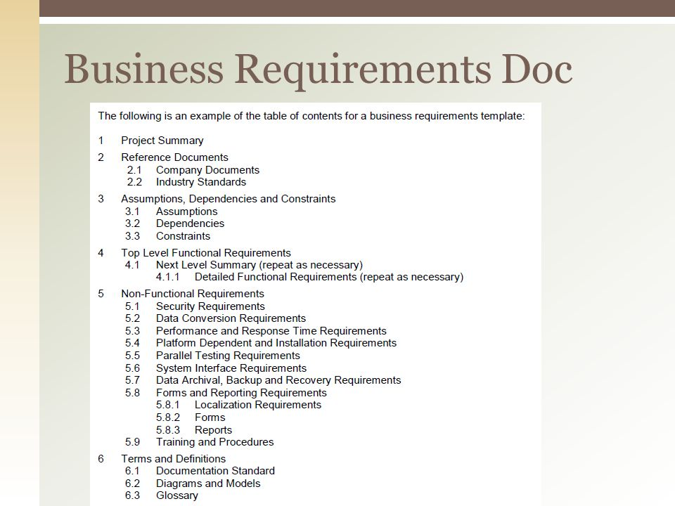 Business Analysis Inc - ppt download - business requirements document template