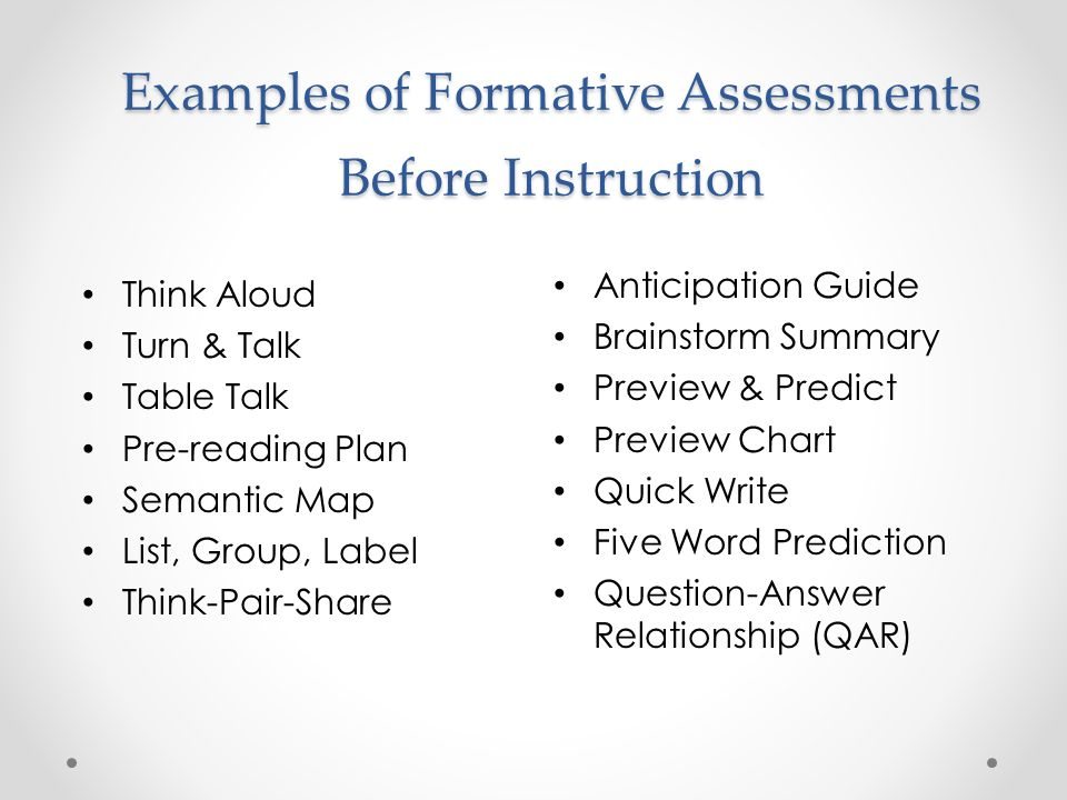 All about Formative Assessment 54 Different Examples Of - kidskunstinfo