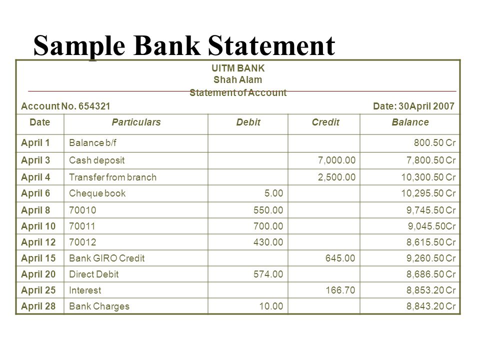 bank reconciliation statement template – Bank Account Reconciliation Template