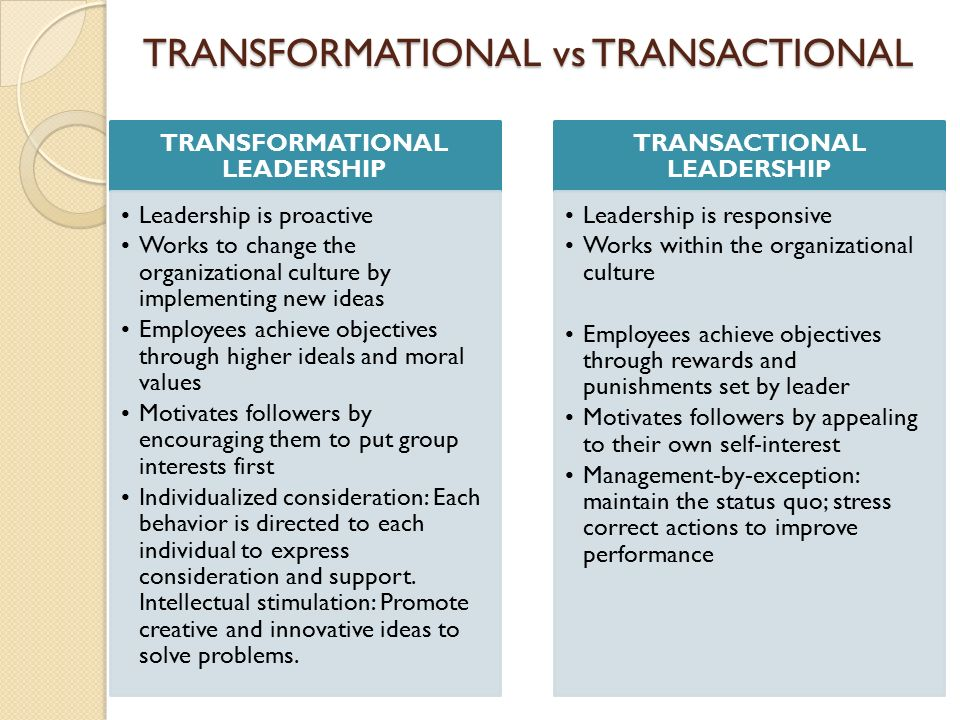 Transformational and transactional leadership College paper Writing - transformational leadership definition