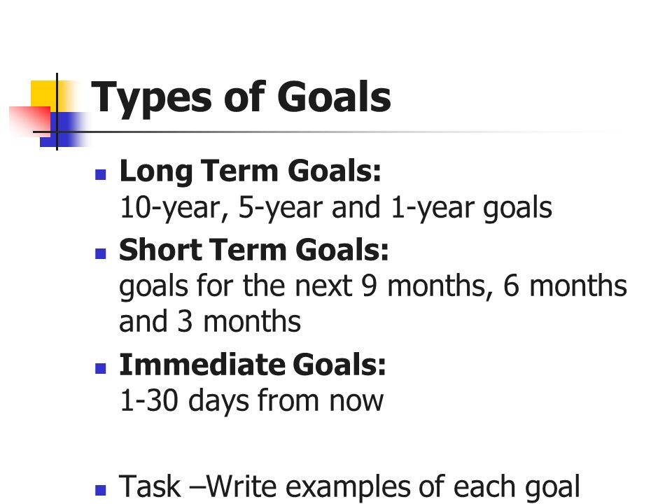 Professional And Personal Short Term And Long Term Goal